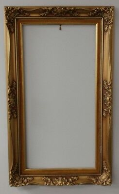 Antique Parisienne Wood Gold Ornate Painted Picture Frame 2921