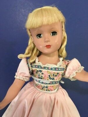 "Rare 14"" AMY 1949-50 Hard Plastic Little Women  Loop Curls Margaret Face Madame"