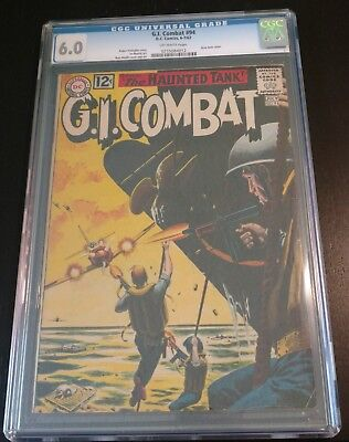 G. I. Combat #94, CGC 6.0, Off-White Pages, Killer Naval Grey Tone Cover!