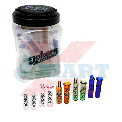 2x DNA Colored Glass Tip Cigarette Filter Mouth Piece Assorted Colors/Style Vary