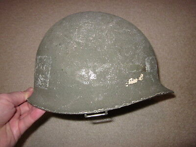 WW2 US Army front seam M1 steel helmet with liner !!!