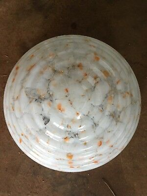 Art Deco Circa 1920's- 1930's Marbled glass Ceiling Light Shade
