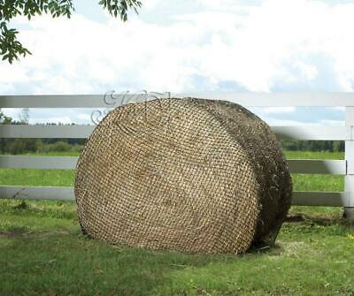 Hay Chix 4' Round Bale Net Slow Feed Hay Feeder Cinch Chix