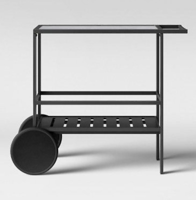 Standish Patio Bar Cart by Project 62 | Black | Brand New