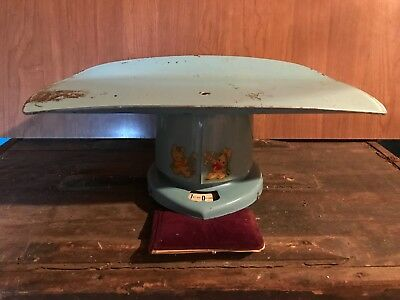Vintage Counselor Brearley Company 1950s Metal Baby Blue Scale
