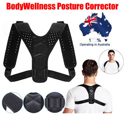 Adjustable Therapy Posture Corrector Support Body Back Pain Belt Shoulder LG