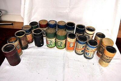 Antique Lot of 20 Amberol Cylinder Record Blue Green and Black