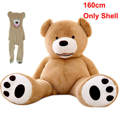 160cm (Only Cover) Super Huge Teddy Bear Plush Toy Shell (with Zipper) 63'' Gift
