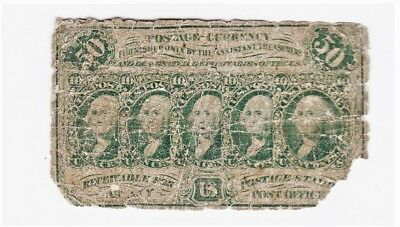 Civil War First Issue 1862 Fractional 50c Note! FRACTIONAL BARGAIN WEEK!