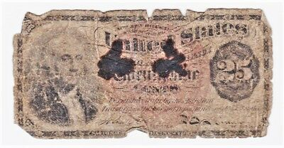 Civil War 4th Issue 1869 Fractional 25c Note! FRACTIONAL BARGAIN WEEK!