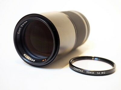 Contax Carl Zeiss 200mm f/4 Tele Tessar T* MMG, Germany, Excellent+