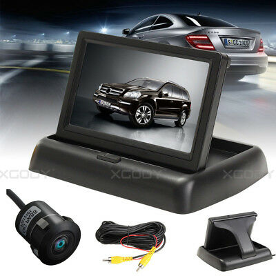 "4.3"" LCD Monitor + Wired Rearview Camera Cam Reversing Car Parking System Kit"