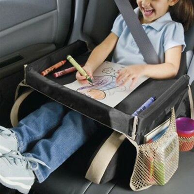 Portable Toddler Kids Safety Car Seat Table Travel Snack Play Tray Drawing Board