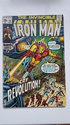The Invincible Iron Man 29 Marvel Comics - September 1970