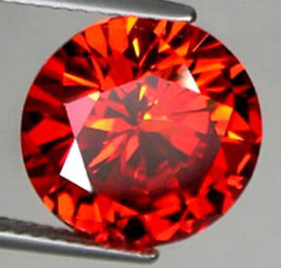 15MM Rond CUT NON CHAUFFÉ 8.78Ct Padparadscha Ruby AAAA + GEMSTONE