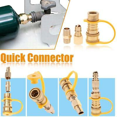 """Propane Natural Gas Quick Connect Connector 3/8"""" Anti-corrosion LPG Fitting Kit"""