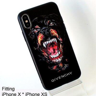 release date: cf7df faa2f GIVENCHY ROTTWEILER DOG Black Soft Rubber Case Cover for iPhone X iPhone XS