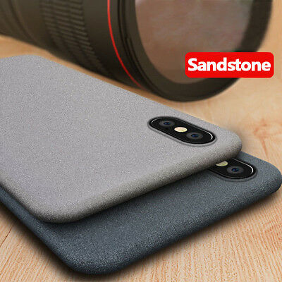 For iPhone 11 Pro Max XS XR X 8 7 6s Slim Sandstone Soft Silicone Gel Cover Case