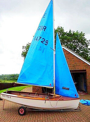 13 foot Wooden Sailing Boat with 2 Trailers