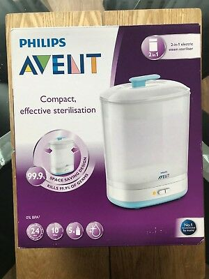 Philips Avent 2 In 1 Electric Steam Steriliser Bnib Cheapest On Ebay!