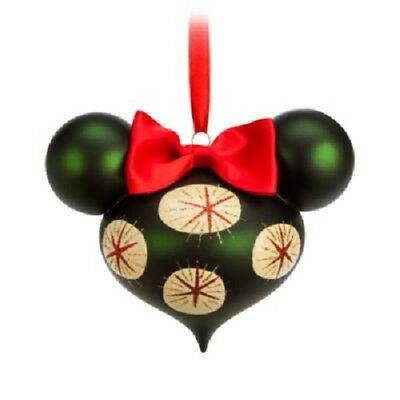 Disney Store Minnie Mouse Holiday Bow Park Exclusive Ornament Limited ED, NEW!