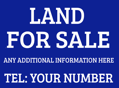 Land For Sale Sign Boards x2