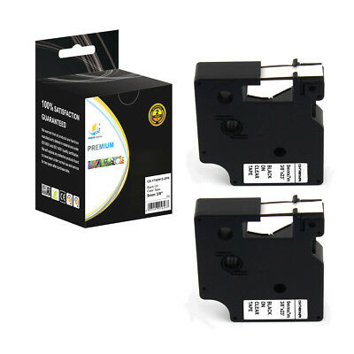 2PK Replacement D1 40913 Black on White 3/8in 23ft Label Tape for Dymo Printers