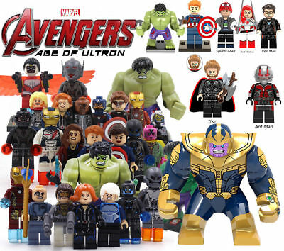 Marvel Avengers Infinity War Super Heroes Building Blocks Spider Iron Man Lego