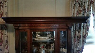 62 in Mahogany Crown Molding Fireplace Mantle Shelf Wohner's unused Beautiful