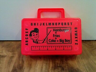 NEW VHTF RARE Vintage Bob's Big Boy Kids Meal Plastic Lunch Box Container