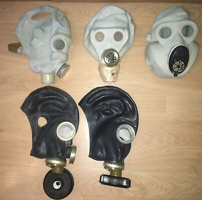 Set of 3 gas mask Soviet Union.USSR PMG,PBF, PMG-2(GP-5M).