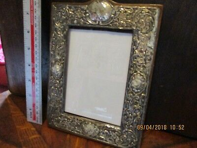 Antique Solid Silver Photo Frame Chester Distressed