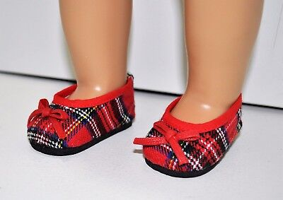 """Our Generation American Girl Journey Girl Doll 18"""" Dolls Clothes Tartan Shoes"""
