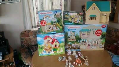 Sylvanian Families figures,accessories,play houses,much more  Huge Bundle,used.