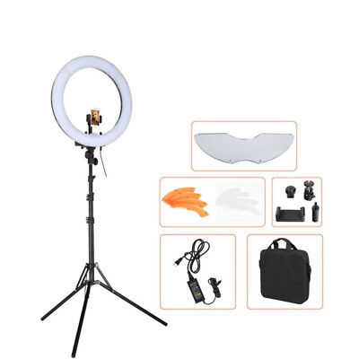 """18"""" LED Ring Light Dimmable 5500K Kit Continuous Lighting Makeup Photo Video Set"""