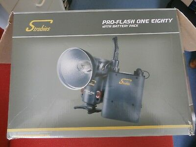 Strobies Pro one eighty flash with battery pack excellent condition