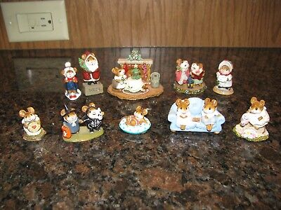 Wee Forest Folk  Lot of 10, 1979-1998 All Retired, Signed, Boxes. Exc Condition