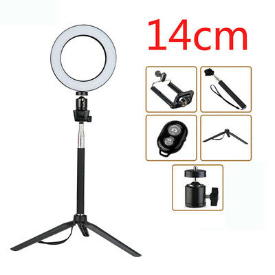 Dimmable LED Ring Light Kit Photography Selfie Light Photo Camera Live for Phone