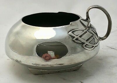 very fine liberty & co tudric pewter sugar bowl archibald knox 0231