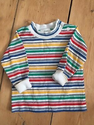 🌈 Vintage 70s Baby Boys Striped Top 6m Little Bird Style 🌈