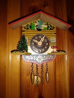 Miniature Black Forest Cuckoo Bird Clock Made in Germany