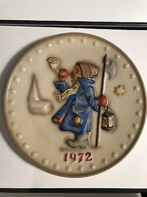 """Vintage Hummel 1972 Annual Plate 2nd In Collection """"Hear Ye Hear Ye"""""""
