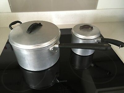 Vintage Saucepans, Swan Brand, Large & Small, Pots & Pans, Collection Only
