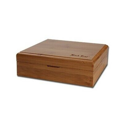 Wood Box Herbal Storage and Pollination Black Leaf (Stoner Box)