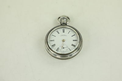 Vintage .925 STERLING SILVER Hand-Wind Pocket Watch FOR REPAIR 166g