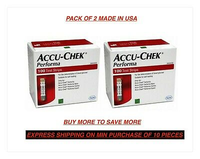 Accu-Chek Performa 200 Test Strips(2 Boxesx100 Each) Expiry 31 January(2020).
