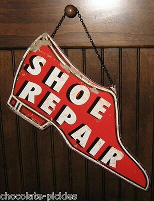RED SHOE Repair Metal SIGN*Retro Vintage Style*Primitive/French Country Decor