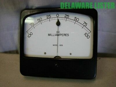 *Vintage Weston Instruments Panel Meter Volts MILLIAMPERES DC Model 626
