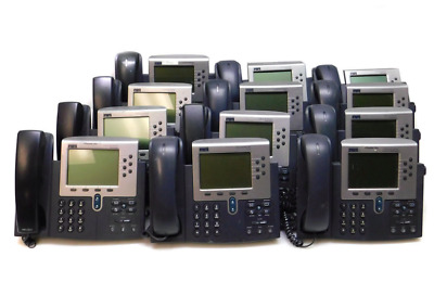 Lot of 12 Cisco 7960 office display phones CP-7960G