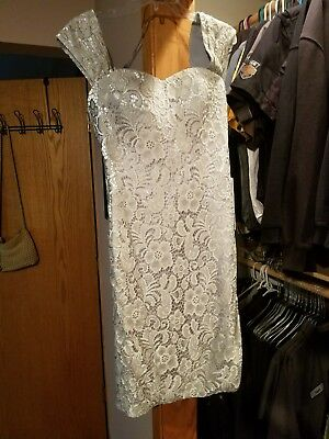 Mother Of The Bride Dress Med. Silver